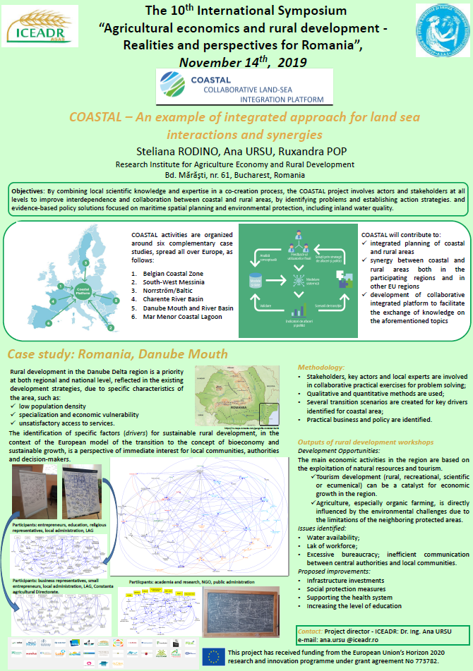 COASTAL An example of integrated approach for land sea interactions and synergies
